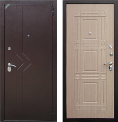 входные двери (стальные двери, металлические двери) DOORS007: дверь Zetta Комфорт 2 Д1, СЛАЛОМ / БАСТИОН , Цвет
