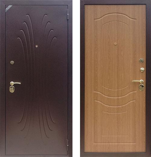 входные двери (стальные двери, металлические двери) DOORS007: дверь Zetta Комфорт 2 Д1, ВОЛНА дуб золотистый