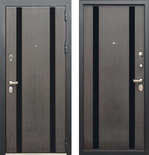 входные двери (стальные двери, металлические двери) DOORS007: дверь Zetta Премьер 100 K2 МЕТРО Сатин венге