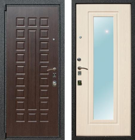 входные двери (стальные двери, металлические двери) DOORS007: дверь Лекс 4A с зеркалом, Цвет