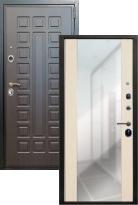 дверь Лекс Гладиатор с зеркалом (металлическая дверь Лекс Гладиатор с зеркалом, железная дверь)