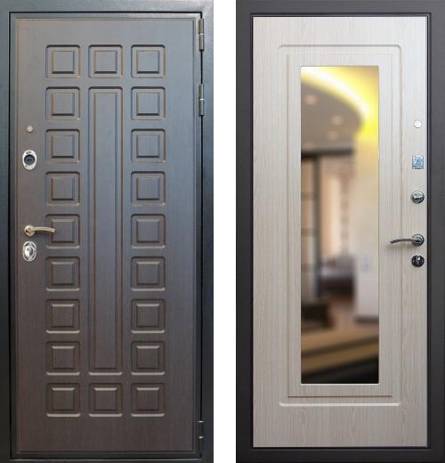 входные двери (стальные двери, металлические двери) DOORS007: дверь Лекс Гладиатор с зеркалом, Цвет