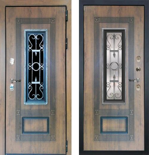входные двери (стальные двери, металлические двери) DOORS007: дверь Лекс Термо Русь