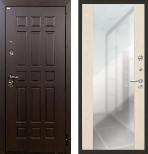 входные двери (стальные двери, металлические двери) DOORS007: дверь Лекс Сенатор с зеркалом