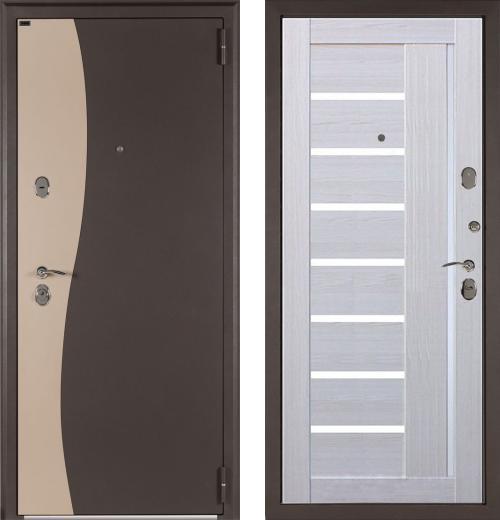 входные двери (стальные двери, металлические двери) DOORS007: дверь Лекс Волна
