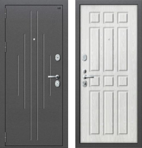 входные двери (стальные двери, металлические двери) DOORS007: дверь Распродажа Groff P2-205 П-25 Беленый Дуб 96 L