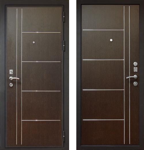 входные двери (стальные двери, металлические двери) DOORS007: дверь Распродажа Кондор Хром (86 R)