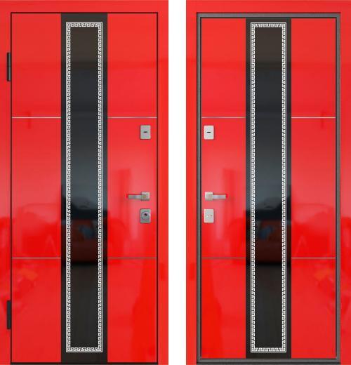 входные двери (стальные двери, металлические двери) DOORS007: дверь Распродажа LUMMIX Premium 80 Red Gloss LS-11