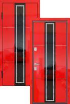 Стальная дверь Распродажа LUMMIX Premium 80 Red Gloss LS-11  (входная металлическая дверь)