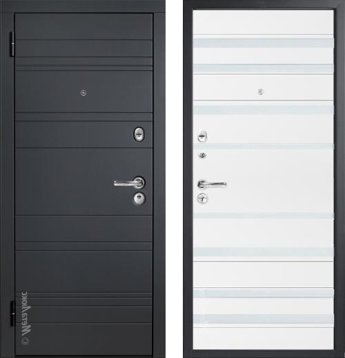 входные двери (стальные двери, металлические двери) DOORS007: дверь Распродажа Металюкс Статус М700/2 (87 L)