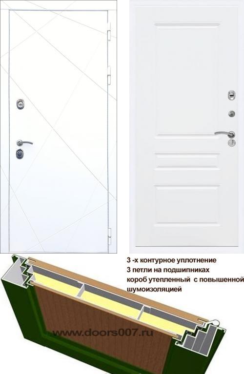 входные двери (стальные двери, металлические двери) DOORS007: дверь Распродажа Rex 13 Белый ФЛ-243