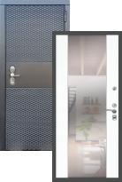 Стальная дверь Black CISA СБ-16 с зеркалом