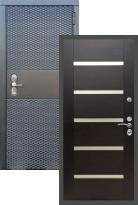 дверь Black CISA СБ-14 Белое стекло
