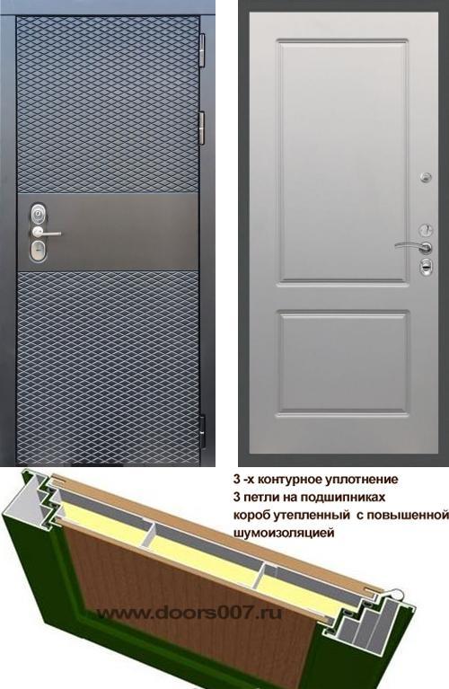 входные двери (стальные двери, металлические двери) DOORS007: дверь Сенатор Black CISA ФЛ-117, Цвет