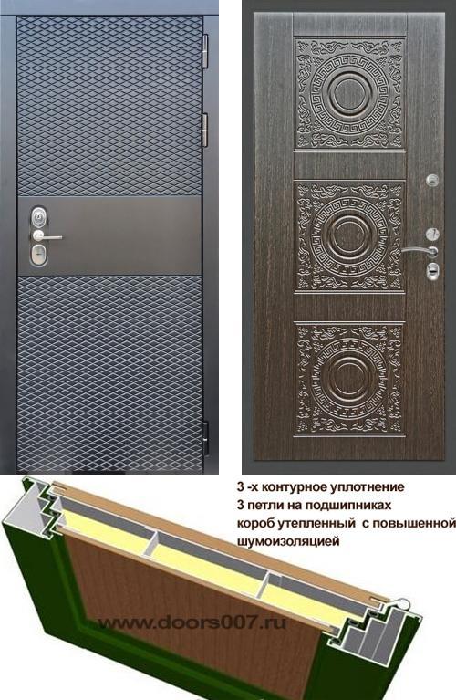 входные двери (стальные двери, металлические двери) DOORS007: дверь Сенатор Black CISA Д-18, Цвет