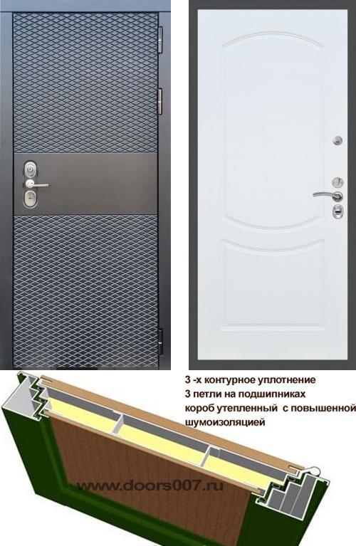 входные двери (стальные двери, металлические двери) DOORS007: дверь Сенатор Black CISA ФЛ-123, Цвет