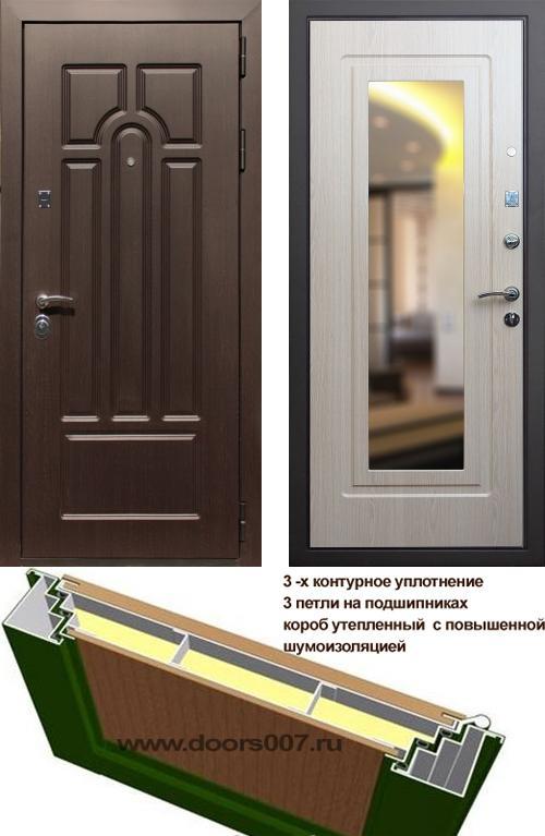 входные двери (стальные двери, металлические двери) DOORS007: дверь Сенатор Эврика с зеркалом, Цвет