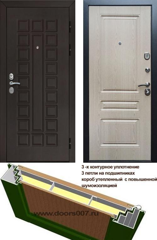 входные двери (стальные двери, металлические двери) DOORS007: дверь Сенатор Престиж 3К CISA ФЛ-243