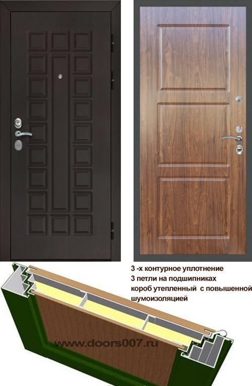 входные двери (стальные двери, металлические двери) DOORS007: дверь Сенатор Престиж 3К CISA ФЛ-3