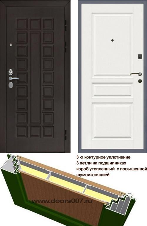 входные двери (стальные двери, металлические двери) DOORS007: дверь Сенатор Престиж 3К CISA ФЛ-243, Цвет