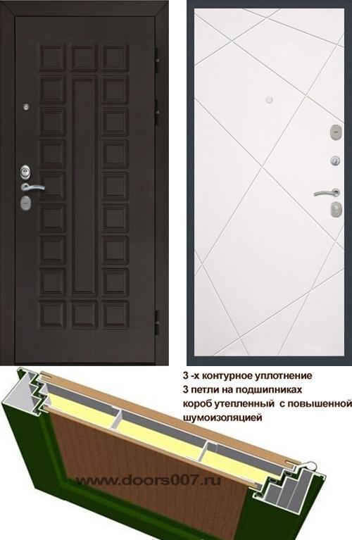 входные двери (стальные двери, металлические двери) DOORS007: дверь Сенатор Престиж 3К CISA ФЛ-291