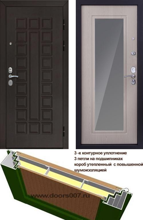 входные двери (стальные двери, металлические двери) DOORS007: дверь Сенатор Престиж 3К CISA ФЛЗ-120