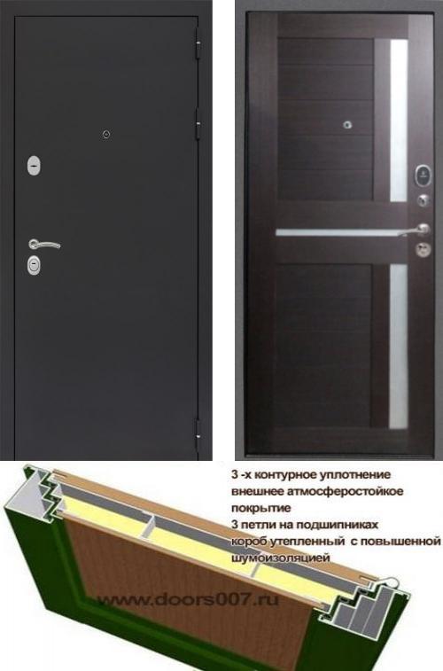 входные двери (стальные двери, металлические двери) DOORS007: дверь Сенатор Практик 3К Черный муар СБ-18, Цвет