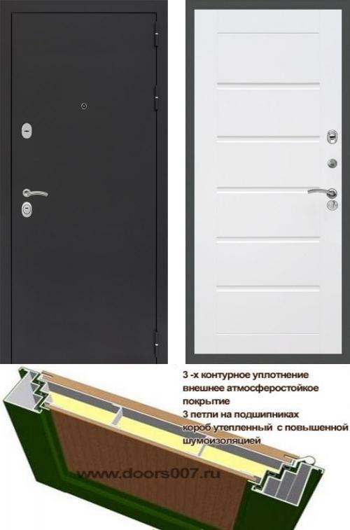 входные двери (стальные двери, металлические двери) DOORS007: дверь Сенатор Практик 3К Черный муар Сити, Цвет