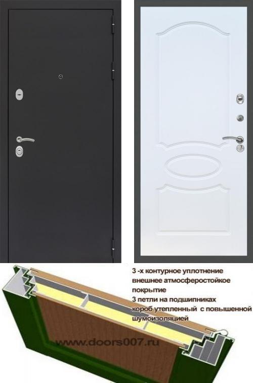 входные двери (стальные двери, металлические двери) DOORS007: дверь Сенатор Практик 3К Черный муар ФЛ-128, Цвет