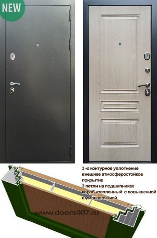 входные двери (стальные двери, металлические двери) DOORS007: дверь Сенатор Практик 3К Антик серебро / ФЛ-243, Цвет