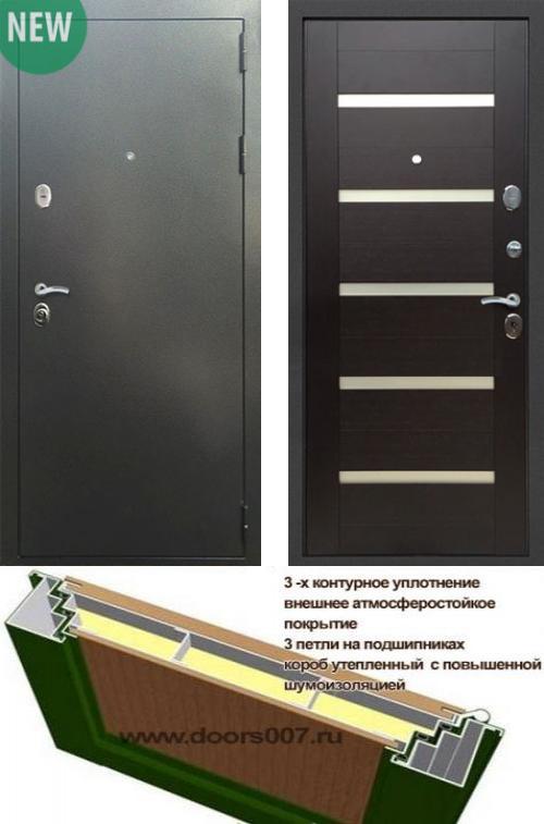 входные двери (стальные двери, металлические двери) DOORS007: дверь Сенатор Практик 3К Антик серебро / СБ-14, Цвет