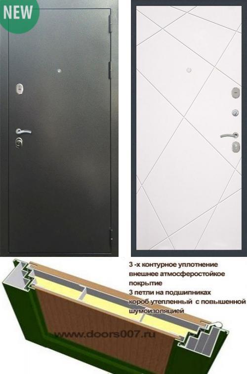 входные двери (стальные двери, металлические двери) DOORS007: дверь Сенатор Практик 3К Антик серебро / ФЛ-291