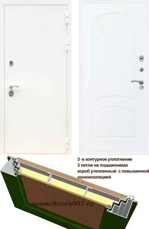 входные двери (стальные двери, металлические двери) DOORS007: дверь Сенатор Практик 3К Белый ФЛ-126, Цвет