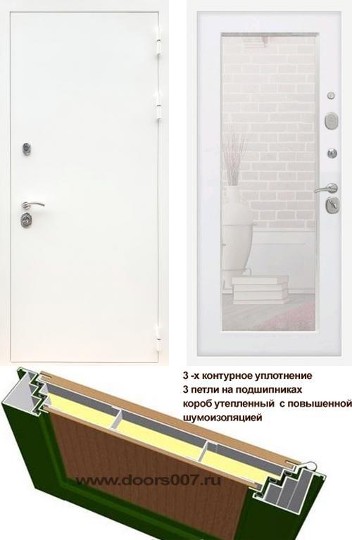 входные двери (стальные двери, металлические двери) DOORS007: дверь Сенатор Практик 3К Белый