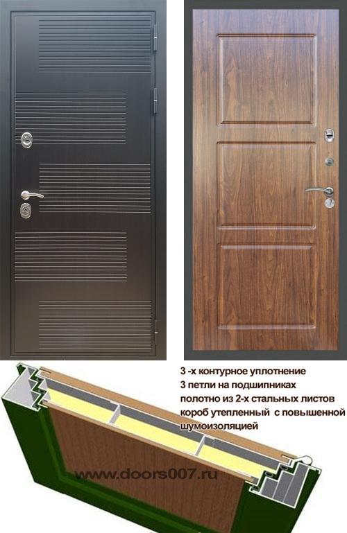 входные двери (стальные двери, металлические двери) DOORS007: дверь Сенатор Премиум ФЛ-185 ФЛ-3