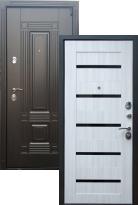 Входная дверь Мадрид СБ-14 Черное стекло