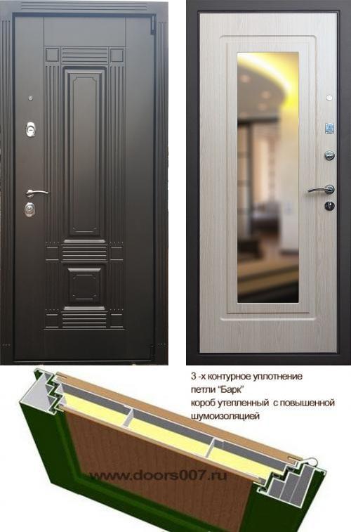 входные двери (стальные двери, металлические двери) DOORS007: дверь Сенатор Мадрид с зеркалом