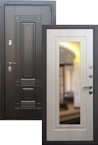 Входная дверь Мадрид с зеркалом (стальная дверь, металлическая дверь)