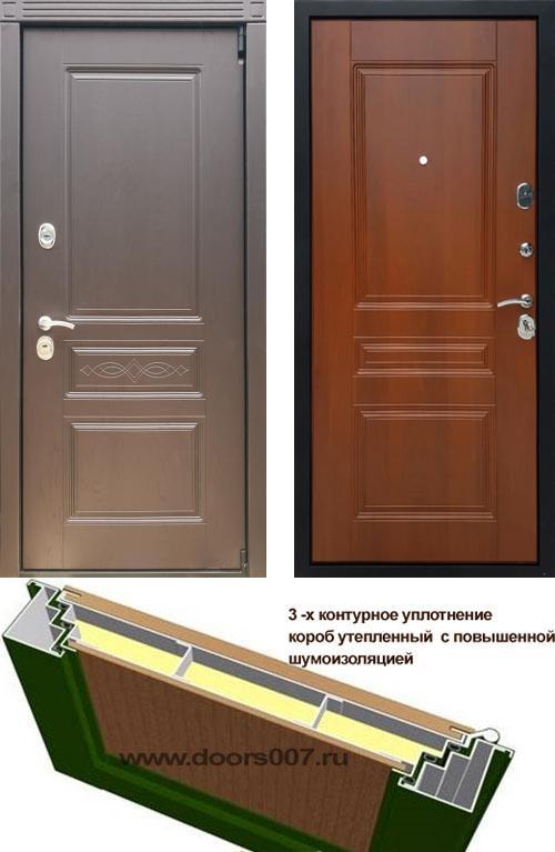 входные двери (стальные двери, металлические двери) DOORS007: дверь Сенатор Премиум S Шоколад ФЛ-243, Цвет