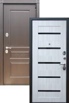 Входная дверь Премиум S Шоколад СБ-14 Черное стекло
