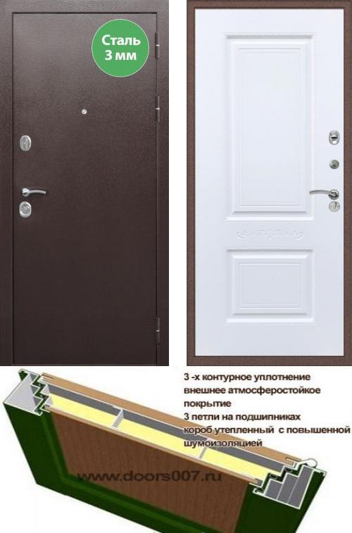 входные двери (стальные двери, металлические двери) DOORS007: дверь Сенатор Практик Strong Смальта 04