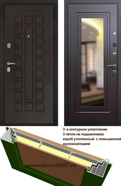входные двери (стальные двери, металлические двери) DOORS007: дверь Сенатор Престиж 3К с зеркалом, Цвет