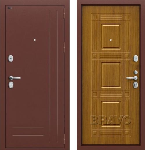 входные двери (стальные двери, металлические двери) DOORS007: дверь Groff P2-202 П-4 Золотой Дуб
