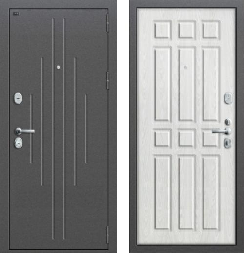 входные двери (стальные двери, металлические двери) DOORS007: дверь Groff P2-205 П-25 Беленый Дуб