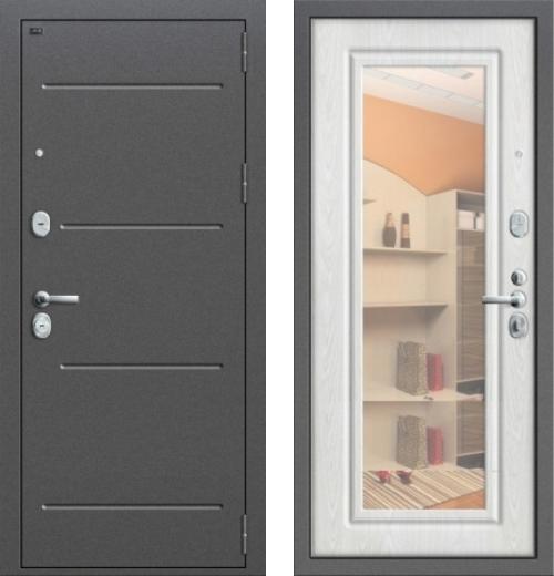входные двери (стальные двери, металлические двери) DOORS007: дверь Groff P2-206 П-25 Беленый Дуб