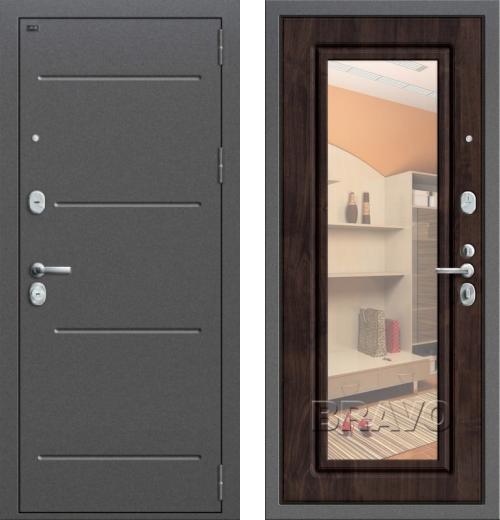 входные двери (стальные двери, металлические двери) DOORS007: дверь Groff P2-206 П-28 Темная Вишня