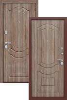 Стальная дверь Groff P3-300 П-1 Темный Орех (входная металлическая дверь)