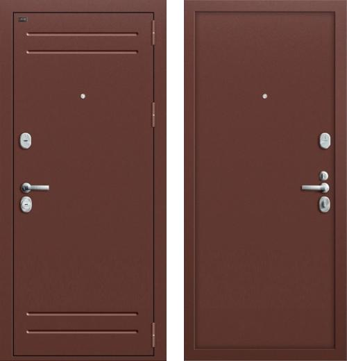 входные двери (стальные двери, металлические двери) DOORS007: дверь Groff Т1-210 Антик Медь