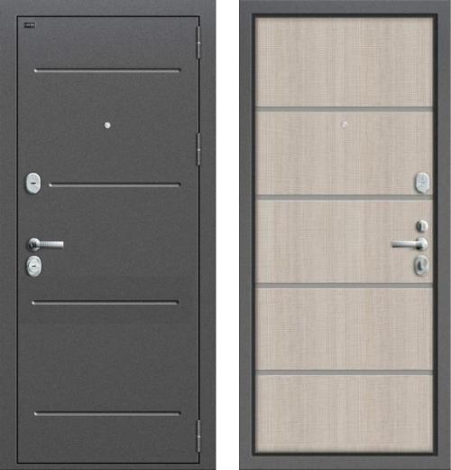 входные двери (стальные двери, металлические двери) DOORS007: дверь Groff Т2-204 Cappuccino Crosscut