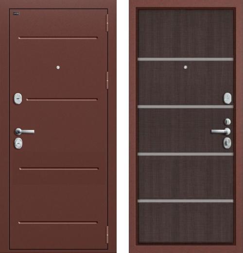 входные двери (стальные двери, металлические двери) DOORS007: дверь Groff Т2-204 Wenge Crosscut
